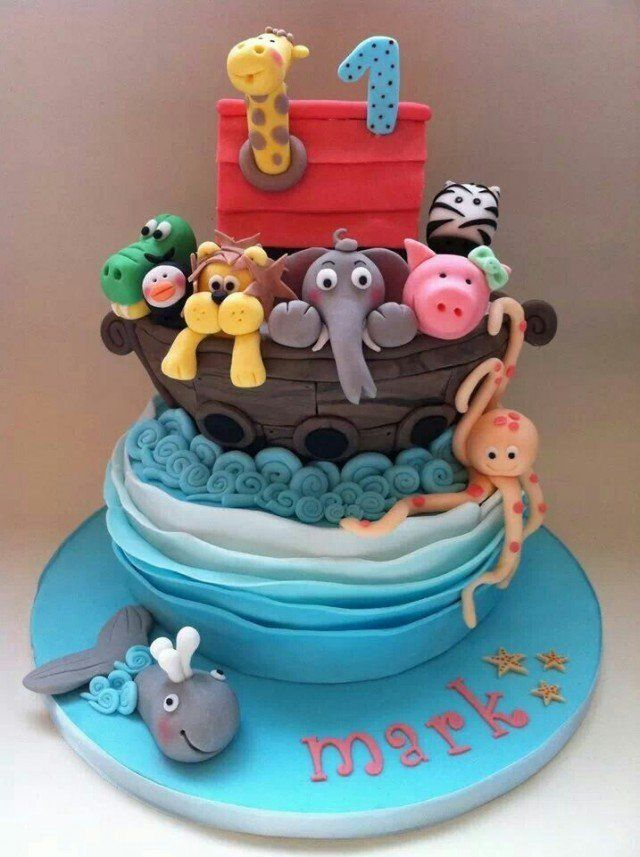 gâteau-anniversaire-original-garçon-fille-animaux-Arche-Noé