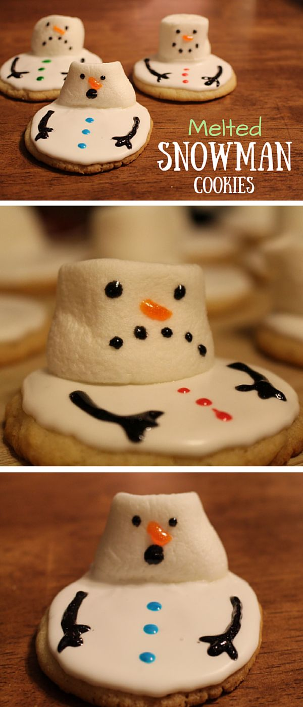 Melted Snowman Cookies Recipe perfect for a cookie swap!