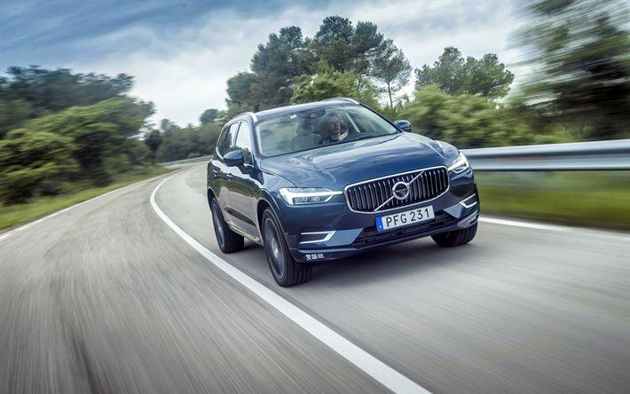 Descargar fondos de pantalla Volvo XC60, 4k, 2018 autos, crossovers, por carretera, el nuevo XC60 de Volvo