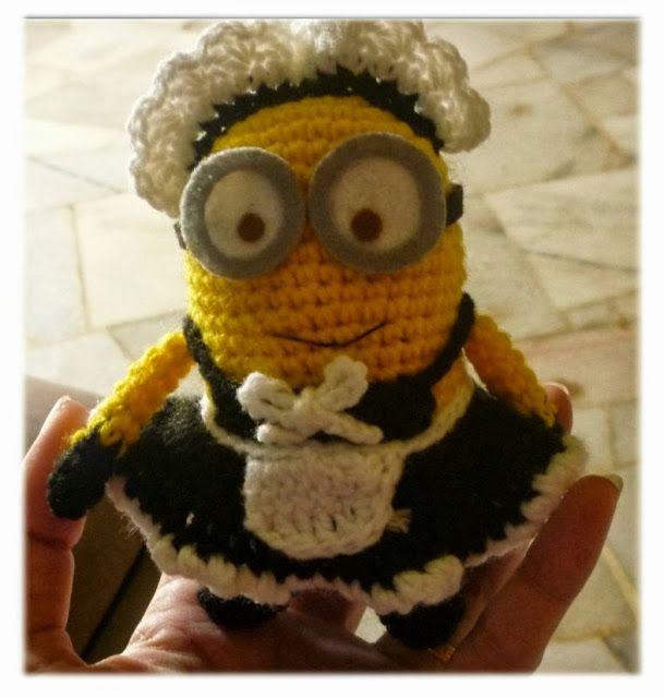 Despicable Me crochet minion amigurumi doll Phil pattern ...
