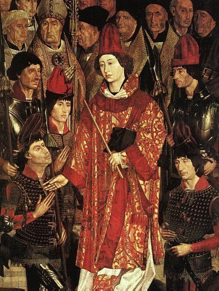St Vincent, Nuno Goncalves 1465 showing arming doublet detail.jpg