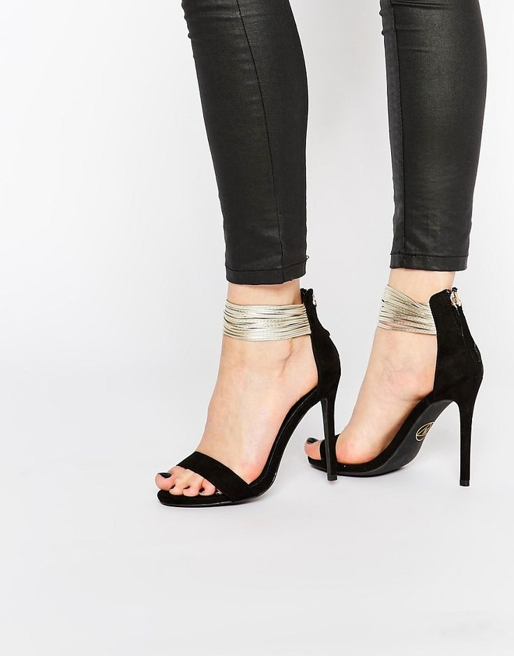 Missguided+Metallic+Ankle+Strap+Barely+There