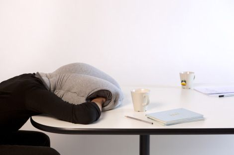 The Ostrich Pillow: An essential item for anyone who enjoys a nap...Ah, the legend of an afternoon nap. We've all been there, especially when a previous evening's activities catch up with us while we're at work trying to focus on getting things done.
