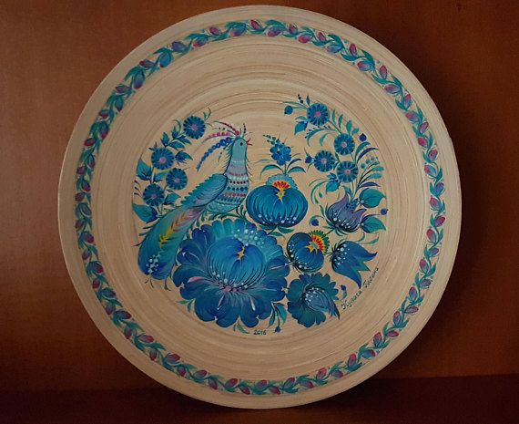 Check out this item in my Etsy shop https://www.etsy.com/uk/listing/570579463/plate-bamboo-hand-painted-ukrainian