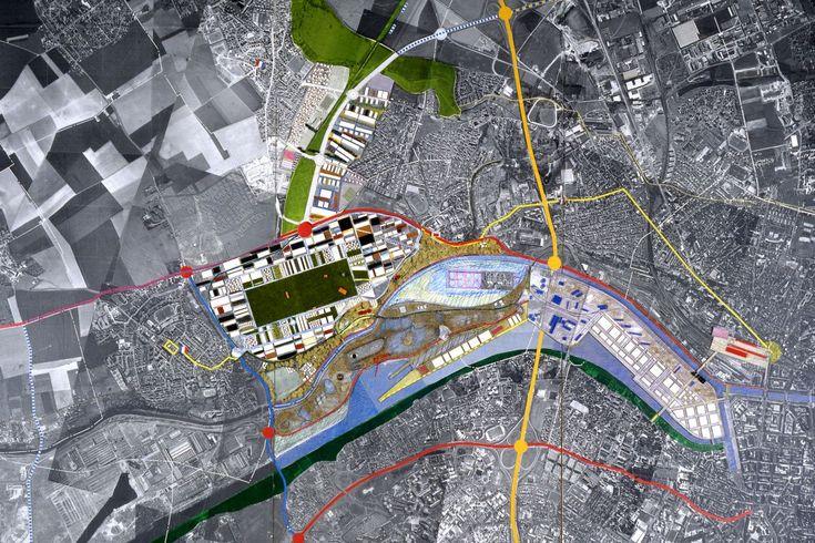 Dominique Perrault Architecture: Redevelopment of UNIMETAL site, Caen (1994-1997)