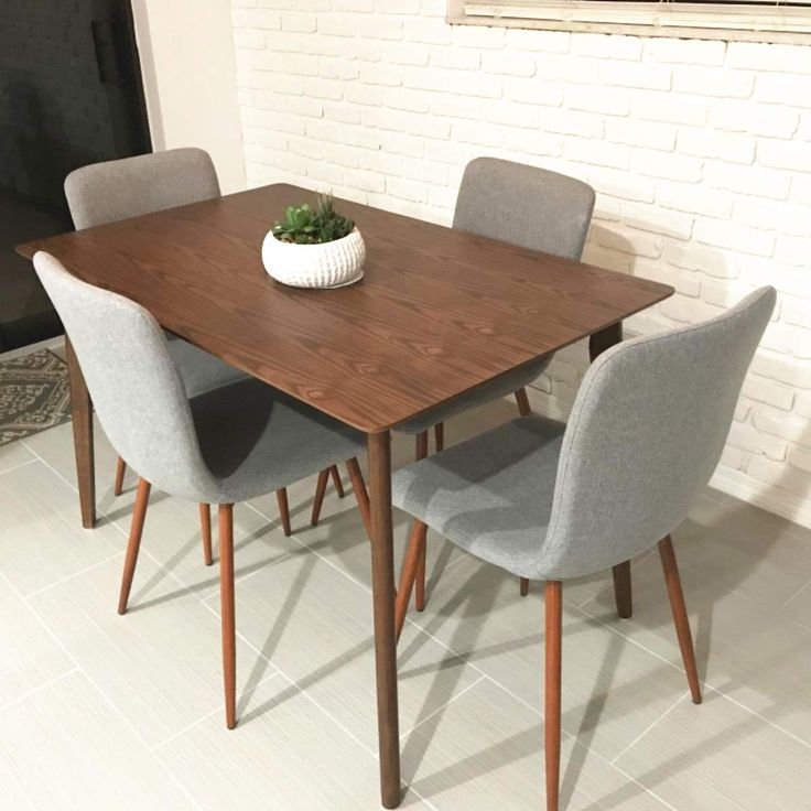 Coavas Dining Chairs Set of 4 Fabric Kitchen Chairs with ...