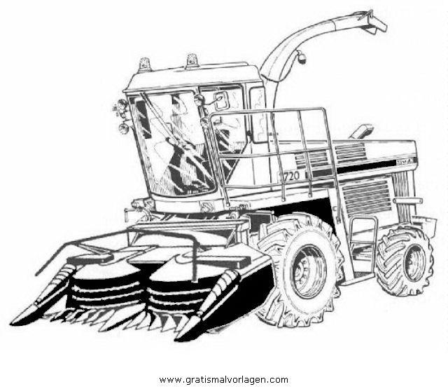 Gratis Malvorlage Maishacksler In Baumaschinen Transportmittel Zum Ausdrucken Und Ausmalen Malvorlagen Wie Zeichnet Man Spongebob Ausmalbilder Traktor
