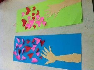 kindergarten or first grade valentine's day heart collage