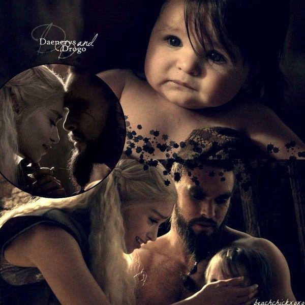 Daenerys, Drogo, and Rhaego