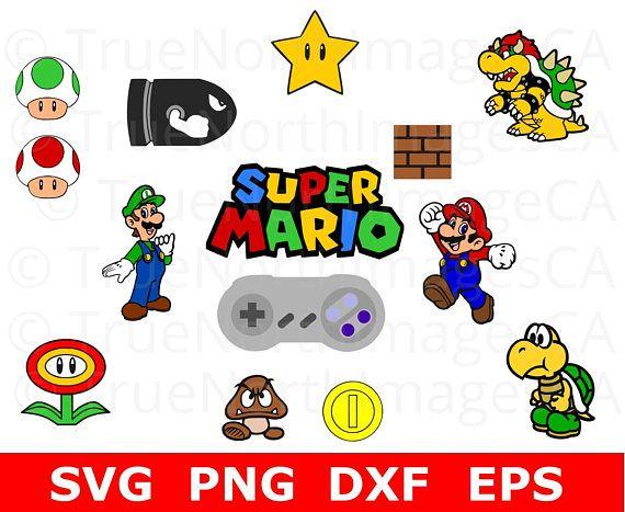 Super Mario Bros Bundle Video Game SVG/PNG/DXf/EPS Cut File