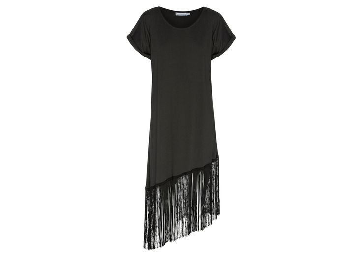 The Fringed Tee Dress. Organic cotton  www.beauinthewoods.com
