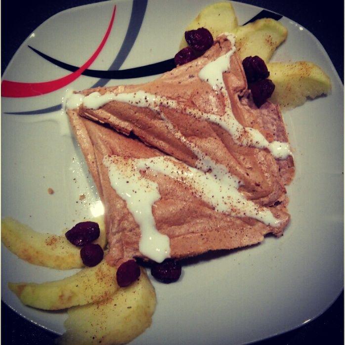 Białkowe tosty z jabłkowym środkiem | www.wiem-co-jem.pl