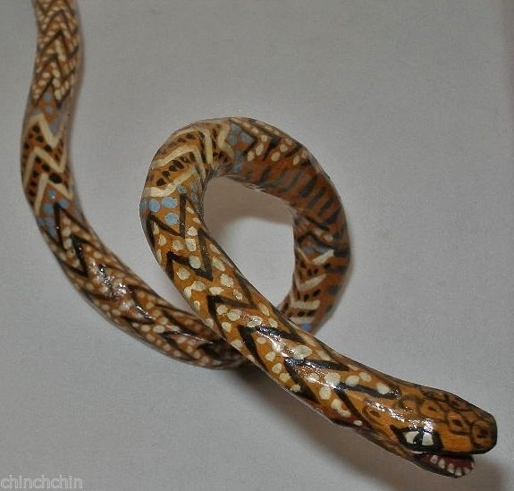 Best images about painted wood snakes on pinterest