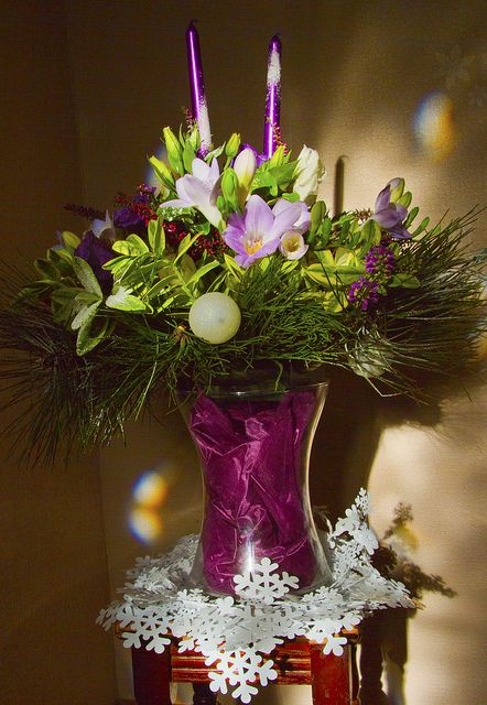 christmas flower designs | Christmas Floral Design | Flickr - Photo Sharing!