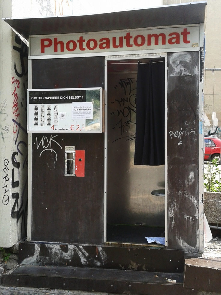 Photoautomat / Photobooth Berlin Friedrichshain.  Berlin is famous for having these booths around the city--a great souvenir.