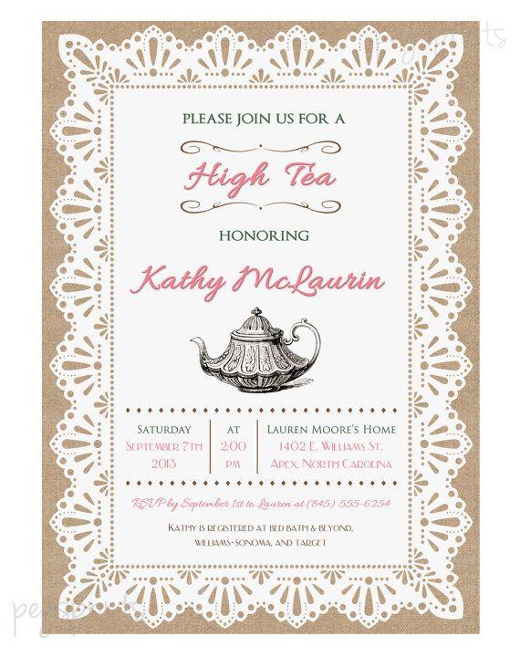 17 Best ideas about High Tea Invitations on Pinterest | Victorian ...