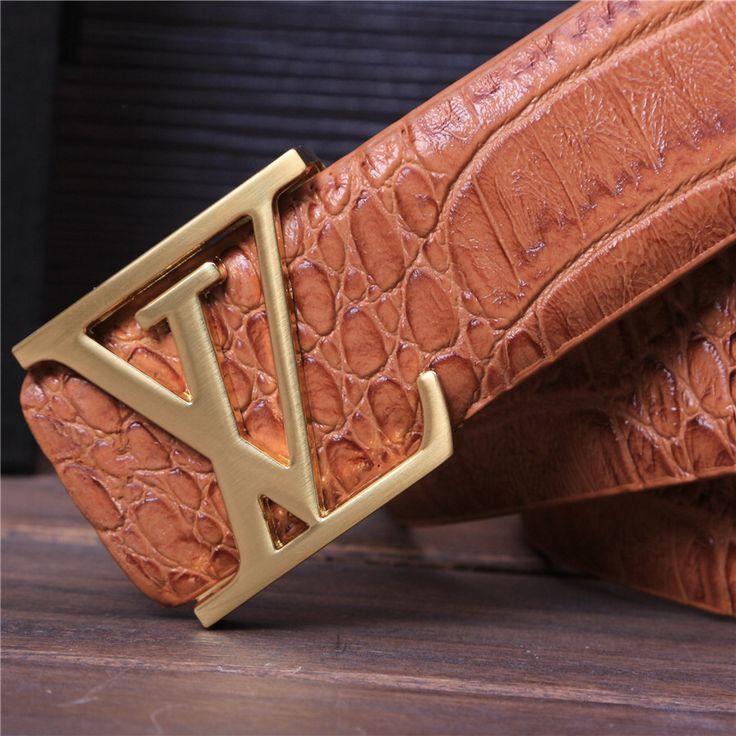 Nuevo 2015 diseñador cinturones hombres alta calidad de cuero de cocodrilo cinturones para hombre suave hebilla vaqueros ocasionales de la correa cinturones hombre