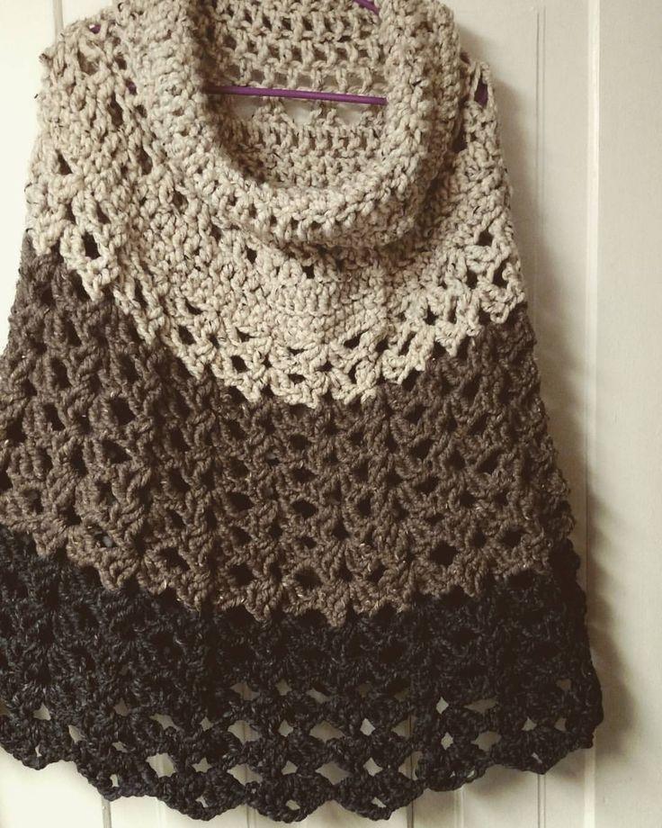 "37 Likes, 7 Comments - Rachel Sharp (@countrycomfortandwarmth) on Instagram: ""All done :) #crochet #poncho #crochetedponcho #handmade #yarn #diy #yarnaddict #yarnlover…"""