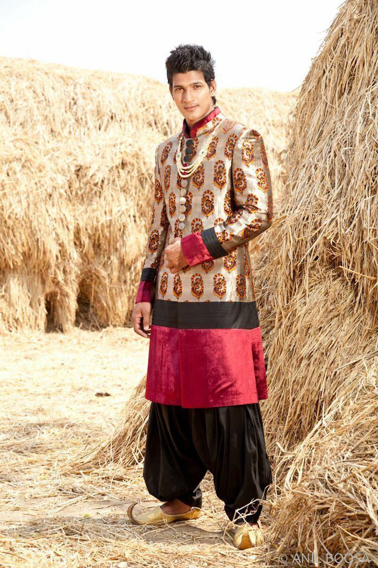 yoked sherwani... by sagar tenali
