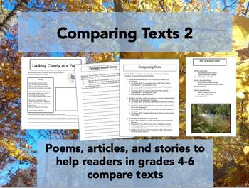 Paired texts to help readers in grades 4-6 learn how to compare texts.