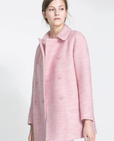 Image 4 of SHORT WOOLLEN OVERCOAT from Zara
