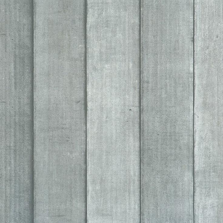 Kinderkamer sloophout behang grijs - Voca 46542