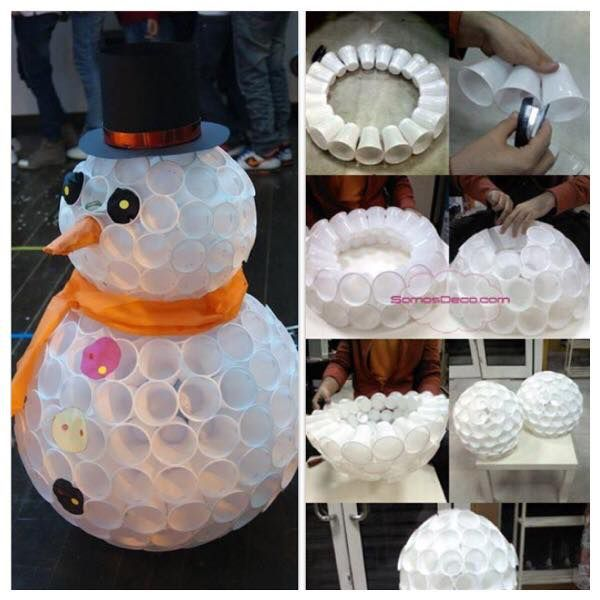 Best 25 plastic cup snowman ideas on pinterest snowman cup plastic cup crafts and decorating - Bonhomme de neige en gobelet ...