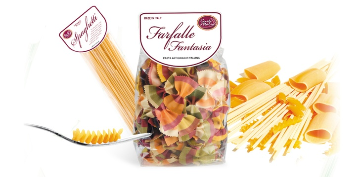 Colored and funny pasta!