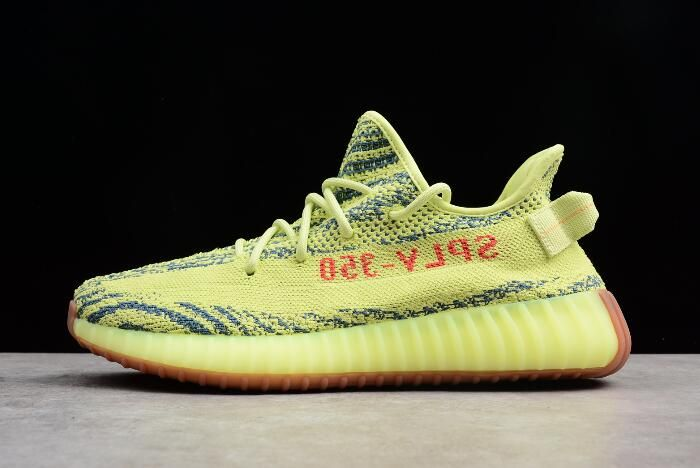 2849d773c6e 2019 adidas Yeezy Boost 350 V2 Semi Frozen Yellow Raw Steel Red B37572  nmdhumanrace2019.com