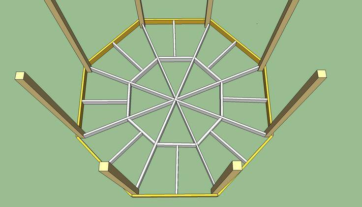 Octagon log cabin house floor plans octagon floor plans for Octagon deck plans free