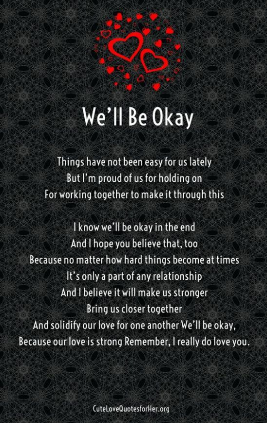 We'll be okay