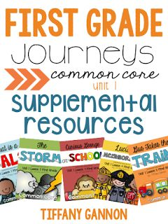 Last year, my school's first grade team asked me if I could come up with some resources to supplement their Journeys Reading Series. The...