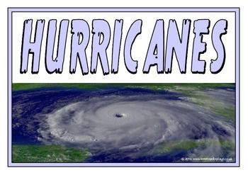 A set of printables explaining the natural disaster of hurricanes. Includes: title page, what is a hurricane?, causes of a hurricane, effects of a hurricane, safety tips, types of hurricanes, and facts about hurricanes. Visit our TpT store for more information and for other classroom display resources by clicking on the provided links.