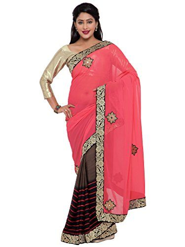 Indian Women pink and brown color georgette sari INDIAN W... http://www.amazon.in/dp/B01N7L436W/ref=cm_sw_r_pi_dp_x_2A4Byb1T40FP1