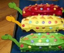 Rezept Dinosaurierkuchen für Kindergeburtstag von Steffi74 - Rezept der Kategorie Backen süß