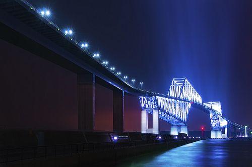 東京ゲートブリッジライトアップ点灯式