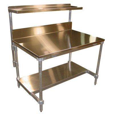 Kitchen: Gridmann Stainless Steel Commercial Kitchen Prep And Work Table Plus A 2 Tier Shelf from Find Your Easier Kitchen Activities With Kitchen Prep Table