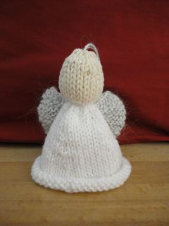 Knitting Pattern Angel Ornament : Knitted Christmas Angel Christmas Crafts Pinterest