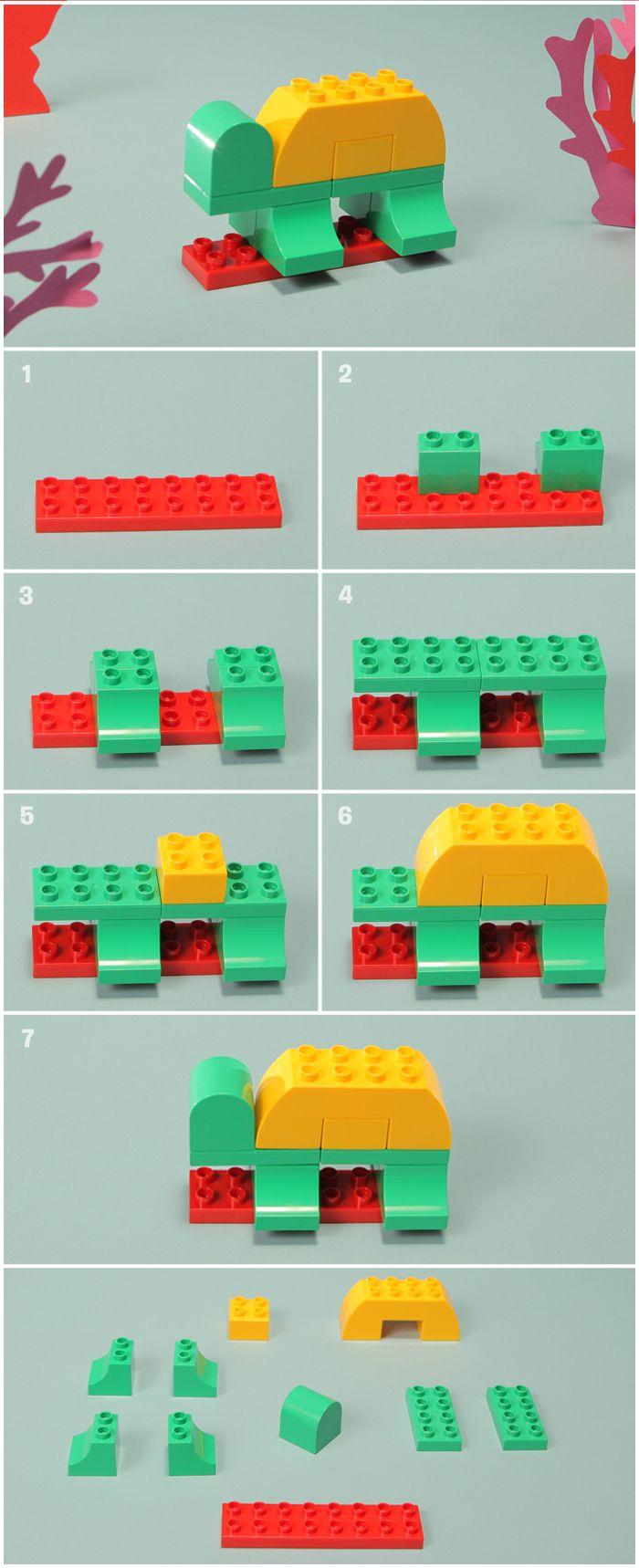 139 best images about eenvoudige lego voorbeelden voor kleuters lego brick - Idee construction lego ...
