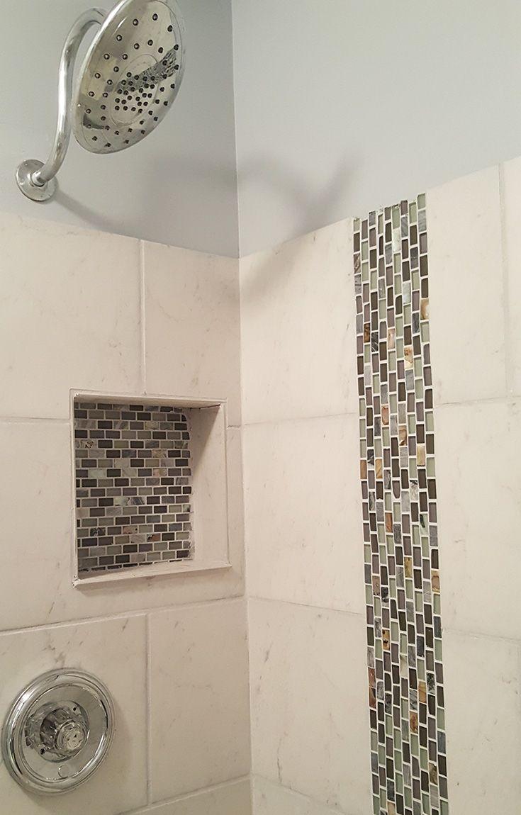 146 best glass backsplash tile images on pinterest glass tiles grey bathroom tiling using agata shell mix grey mosaic glass tile with mother of
