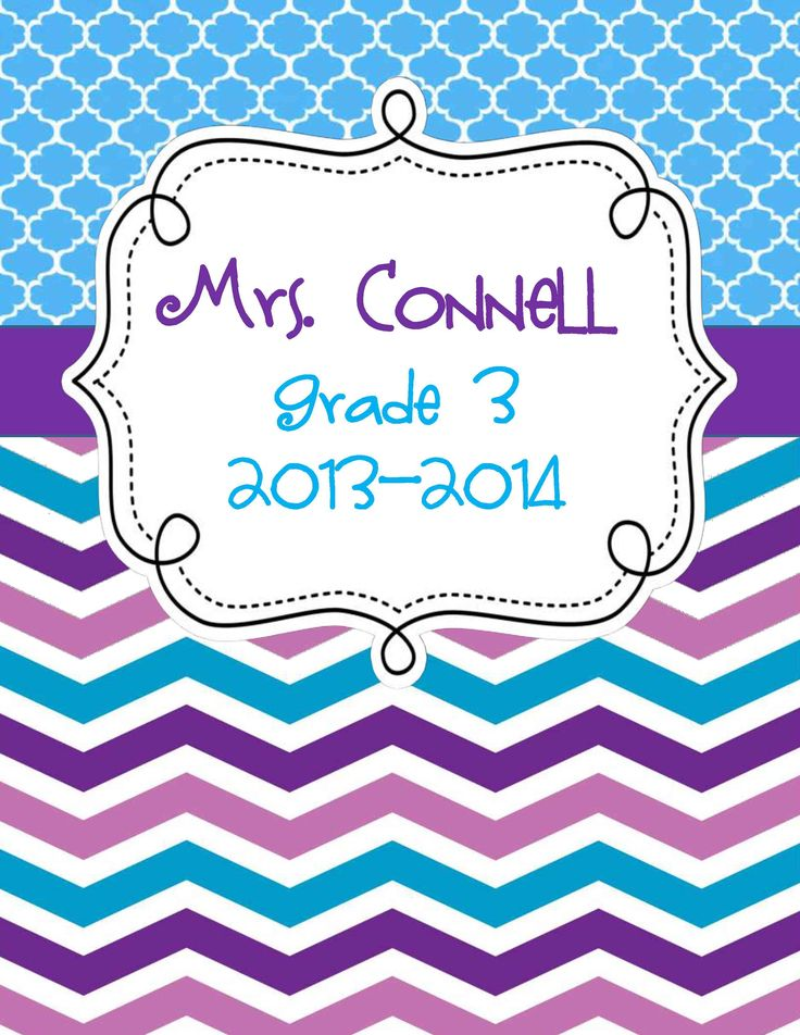 3 editable chevron binder covers