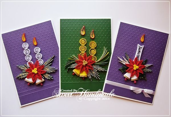 Christmas preparation - Quilling cards 2014