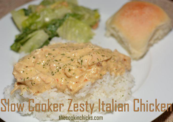 Slow Cooker Zesty Italian Chicken