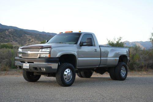 2003 chevrolet silverado 3500 lifted dually diesel 4x4 for sale single cab trucks pinterest. Black Bedroom Furniture Sets. Home Design Ideas