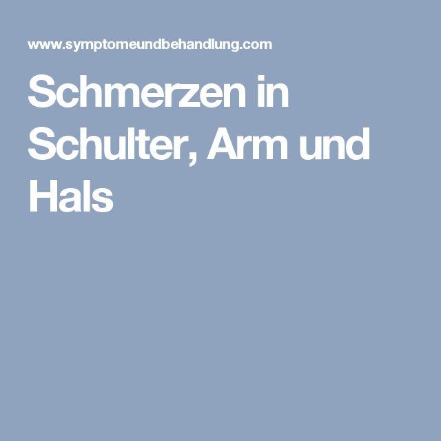 Schmerzen in Schulter, Arm und Hals