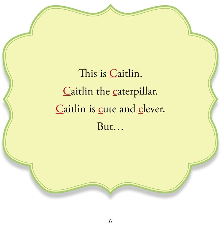 Learn phonics with Caitlin! From Caitlin Cleans her Closet   Genius Publishing