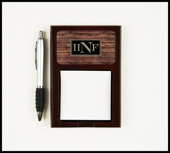 office gifts for dad. interesting for custom gifts for men unique dad sticky note holder mahogany  stained wood him office accessories graduation gift for intended 2