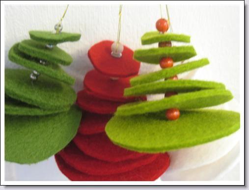 kerstboomhangers van vilt .