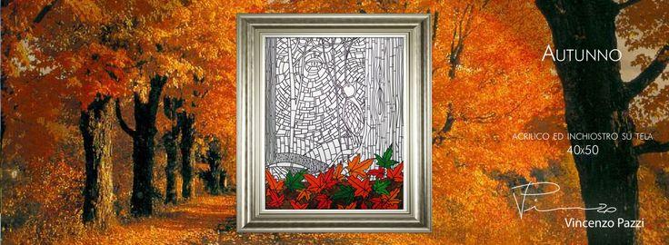 """Autunno"" (Autumn) - acrilico ed inchiostro su tela (acrylic and ink on canvas) - 40x50 cm - by Vincenzo Pazzi - http://vincenzopazzi.com/2014/10/14/autunno-autumn/ - #art #acrylic #ink #canvas #autunno #autumn"