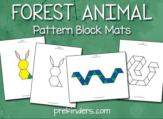 Forest Animal Pattern Block Mats